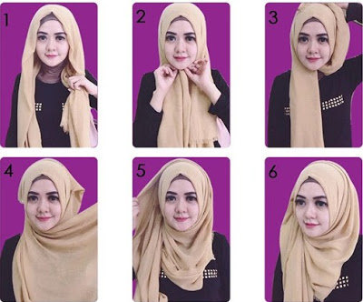 Tutorial Memakai Jilbab Segi Empat