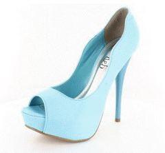 high heels sandals light blue - photo #11