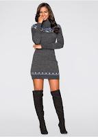 Rochie tricotată din fire moi (bonprix)