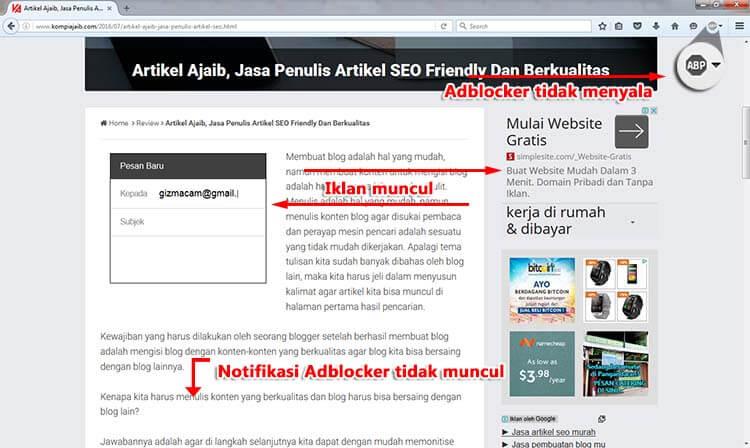 Adblocker Adsense