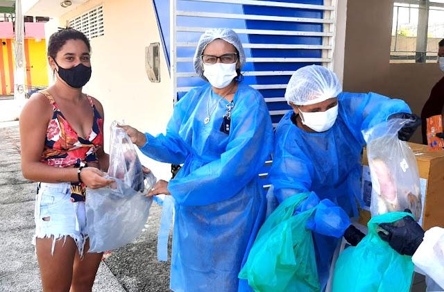 ALTO DO RODRIGUES RN-Prefeito Nixon Baracho acompanha distribuição de pescado na Semana Santa em Alto do Rodrigues