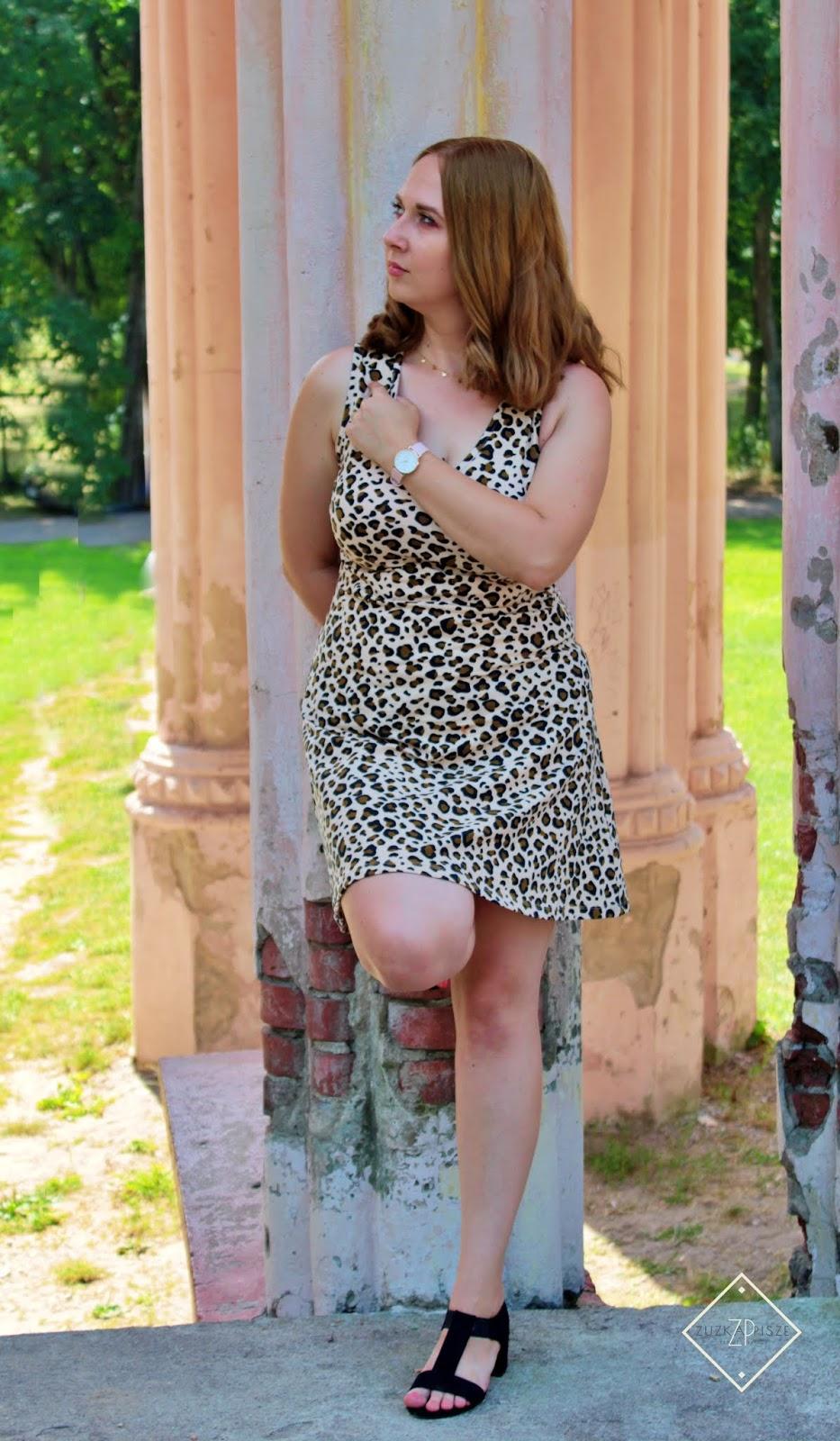 pałac paca w dowspudzie, bonprix sukienka w panterkę