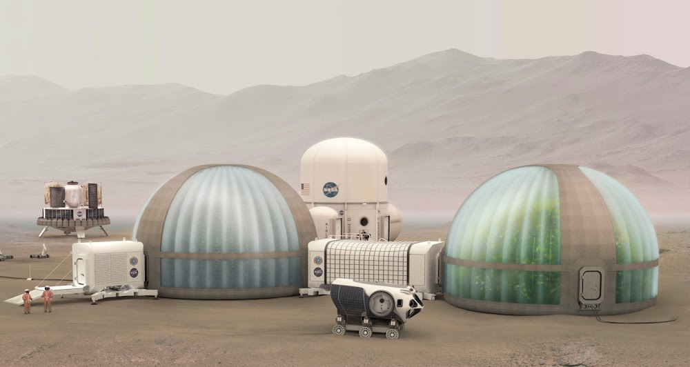 Mars Ice Home exterior by NASA, SEArch+ & Clouds AO