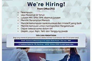 Loker Bandung Staf Front Office Kampus STTB