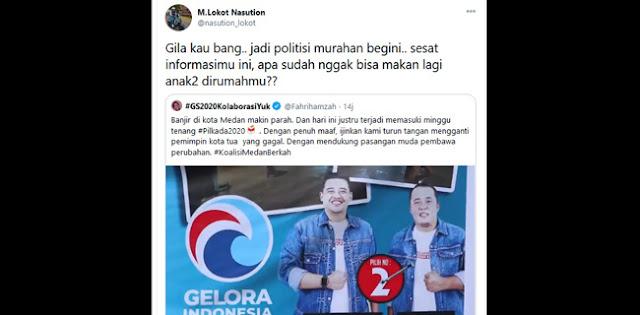 Lokot Nasution ke Fahri Hamzah: Gila Kau Bang, Jadi Politisi Murahan Begini