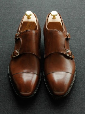 Double Buckle Brown Shoes Russel L