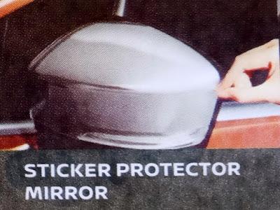 Gambar Stiker protector mirror Nissan Livina