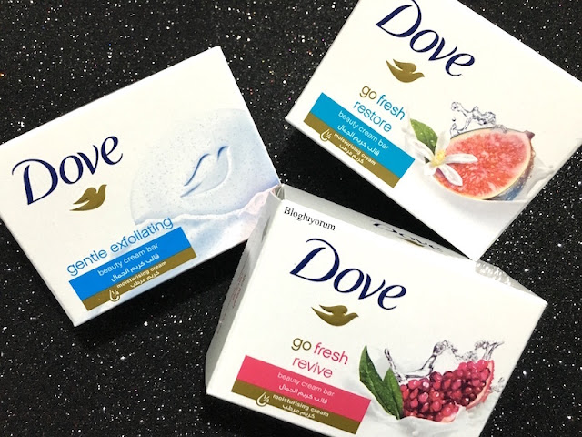 Dove Beauty Cream Bar Güzellik Sabunları Dove Go Fresh Revive Beauty Bar Dove Gentle Exfoliating Bar Dove Go Fresh Restore