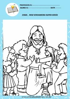 Jesus o super herói das crianças