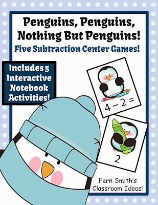 http://www.teacherspayteachers.com/Product/Penguin-Subtraction-Centers-and-Interactive-Notebook-Activities-1002769