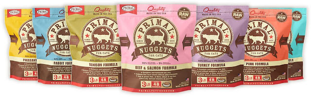 bags of Primal frozen raw pet food