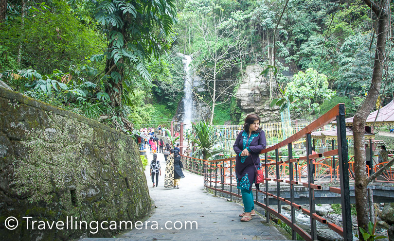 Banjhakari falls come of the way, when you come back from Rumtek Monsatery to Gangtok city. There is a right cut on the way and hardly 5-6 kms of detour. If you are planning to visit West Sikkim or have seen good waterfalls, it's a skippable option. More than a waterfall, it's converted into a theme park which is always crowded. We went inside, spent around 5 minutes near the waterfall and came out. Kids will certainly love this place.   Namgyal Institute of Tibetology :  Namgyal Institute of Tibetology, Do Drul Chroten Stupa and Ropeway are nearby. If you plan to visit these, you don't even need to book a cab. Either walk to ropeway station to take bus, cab. All these 3 places can be explored on foot.