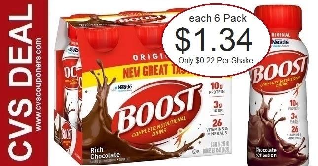 Boost Original Shakes CVS Deal 8-22-8-28