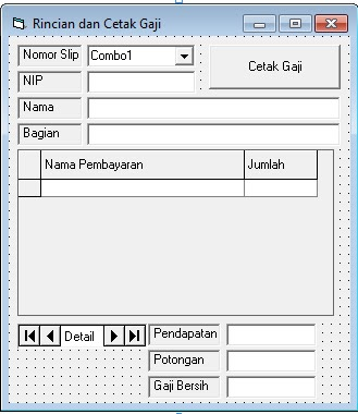 Source Coding Program Penggajian Paling Lengkap di Visual Basic 6.0