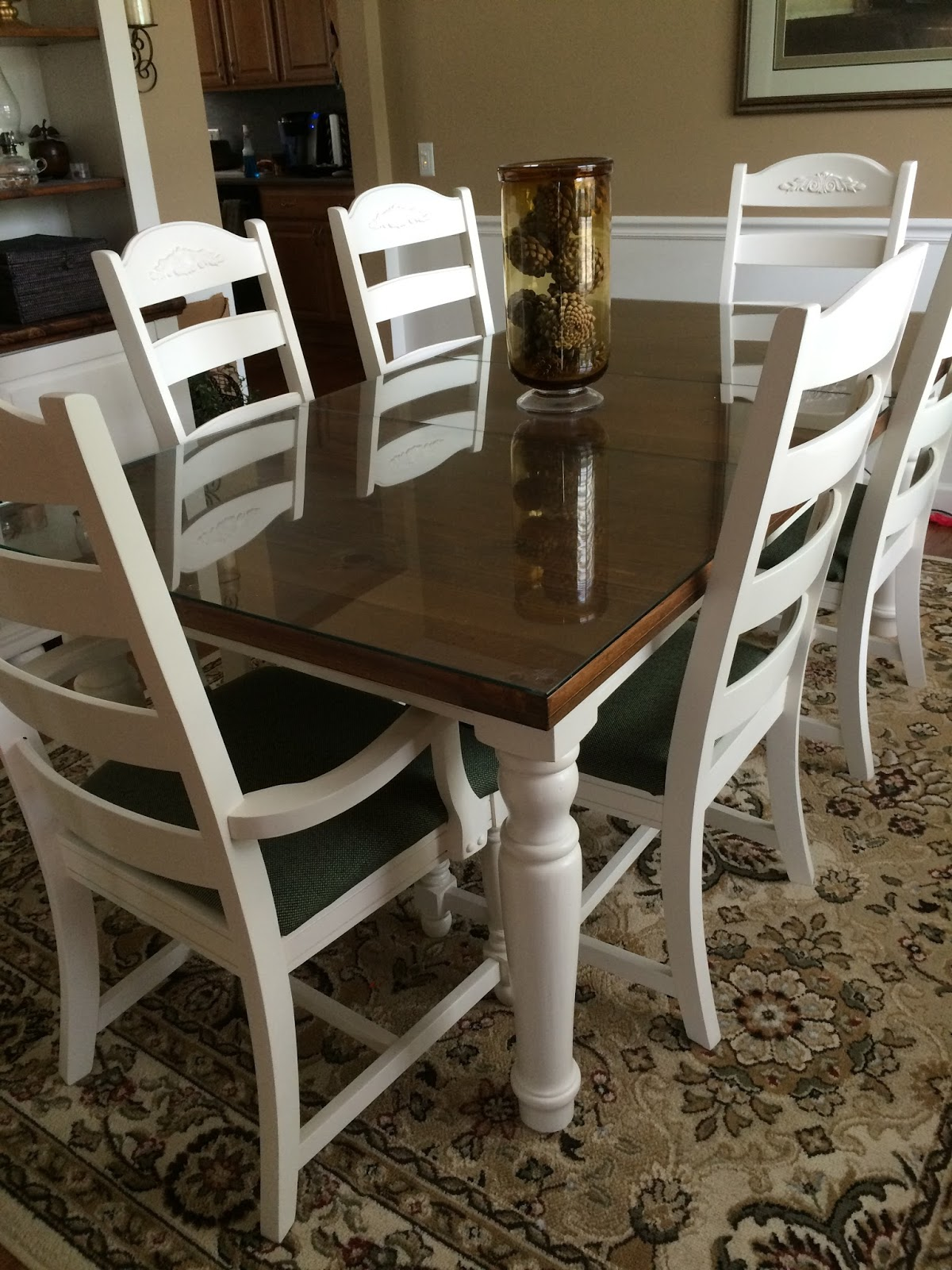 DIY Midwest Home Renovation - Broyhill farmhouse dining room table