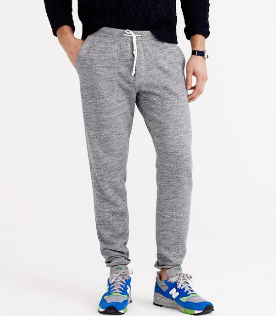 Slim Fit Marbled Graphite Sweatpants Jogger Pants