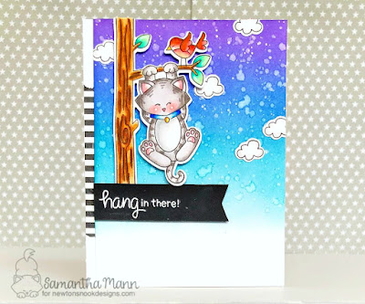 Hang in There Card by Samantha Mann for Newton's Nook Designs, Handmade cards, Distress Inks, ink blending #newtonsnook #inkblending #distressink #cards