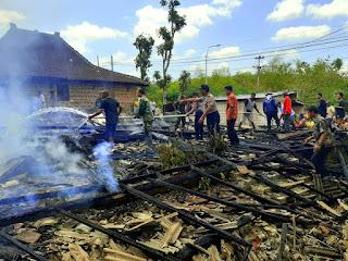 Ditinggal Tidur, Rumah Warga Giriwoyo Ludes Terbakar