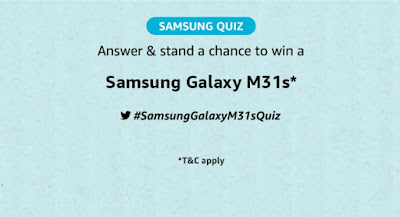What is the capacity of the battery of the Samsung Galaxy M31s?