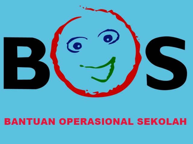 Logo BOS Background Biru Tulisan Merah