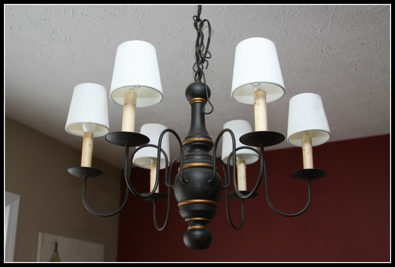 Casa de Luna Creations: Tea Stained, Painted Lamp Shades