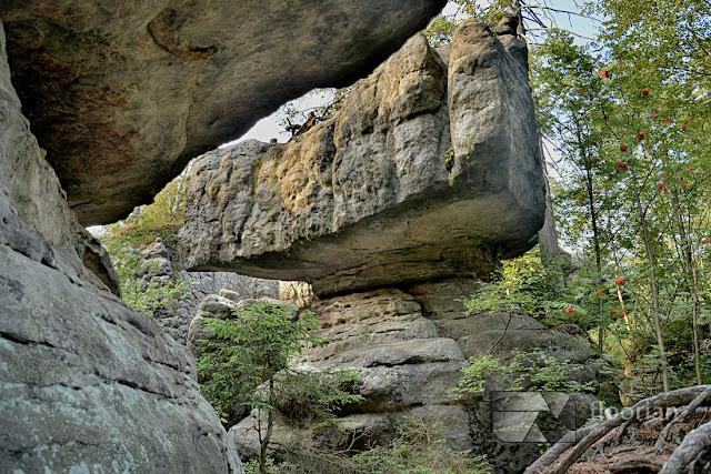 Formy skalne w Błędnych Skałach -