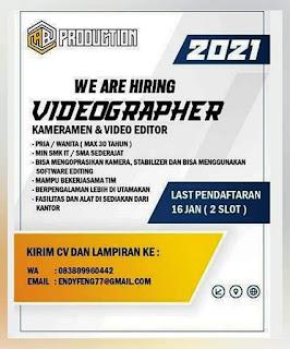 karirbatam.com Loker  Lowongan Kerja Videographer Kota Batam gaji UMK Batam 2021