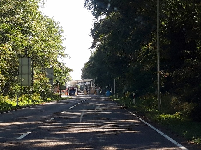 Kaliningradin rajanylityspaikka Kuurinkynnäällä / Nida 2019