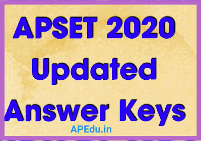 APSET 2020 Updated Answer Keys