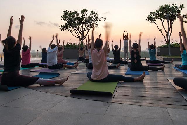 Yoga day in Lexington 2021