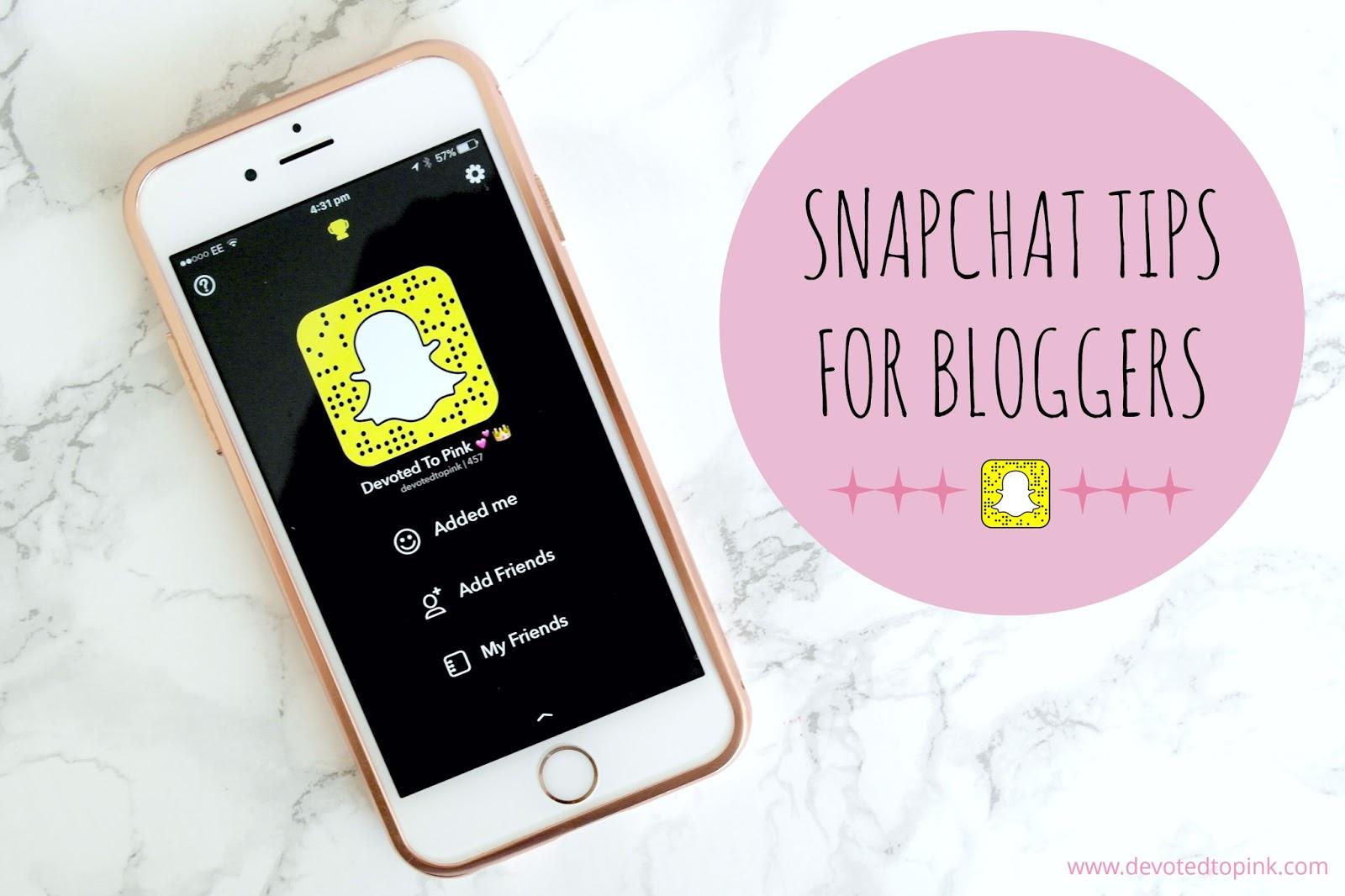 snapchat, tips, bloggers