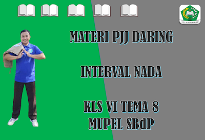 Materi SBdP Kelas VI Tema 8 Subtema 1 - Interval Nada