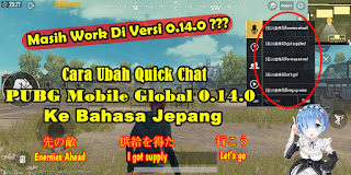 Cara Mengubah Voice Chat PUBG Mobile Global 0.14.0 Ke Bahasa Jepang