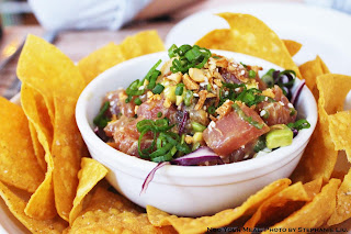 Poke with Ponzu, Peanuts, and Avocado at Seamore's