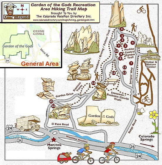 Art Now And Then Garden Of The Gods Colorado Springs - Air force academy map