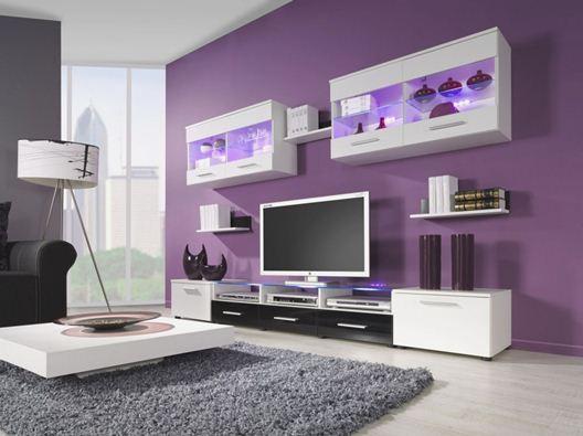 Warna Cat Rumah Modern bagus ungu