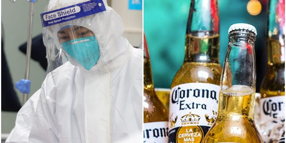 corona beer virus,  beer virus and beer coronavirus