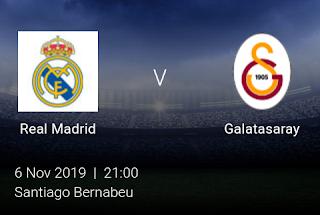 LIVE MATCH: Real Madrid Vs Galatasaray UEFA Champions League 06/11/2019