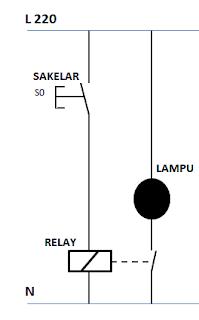 rangkaian sederhana menggunakan relay