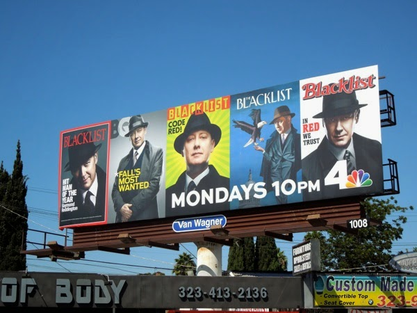 Blacklist season 2 iconic magazine cover billboard