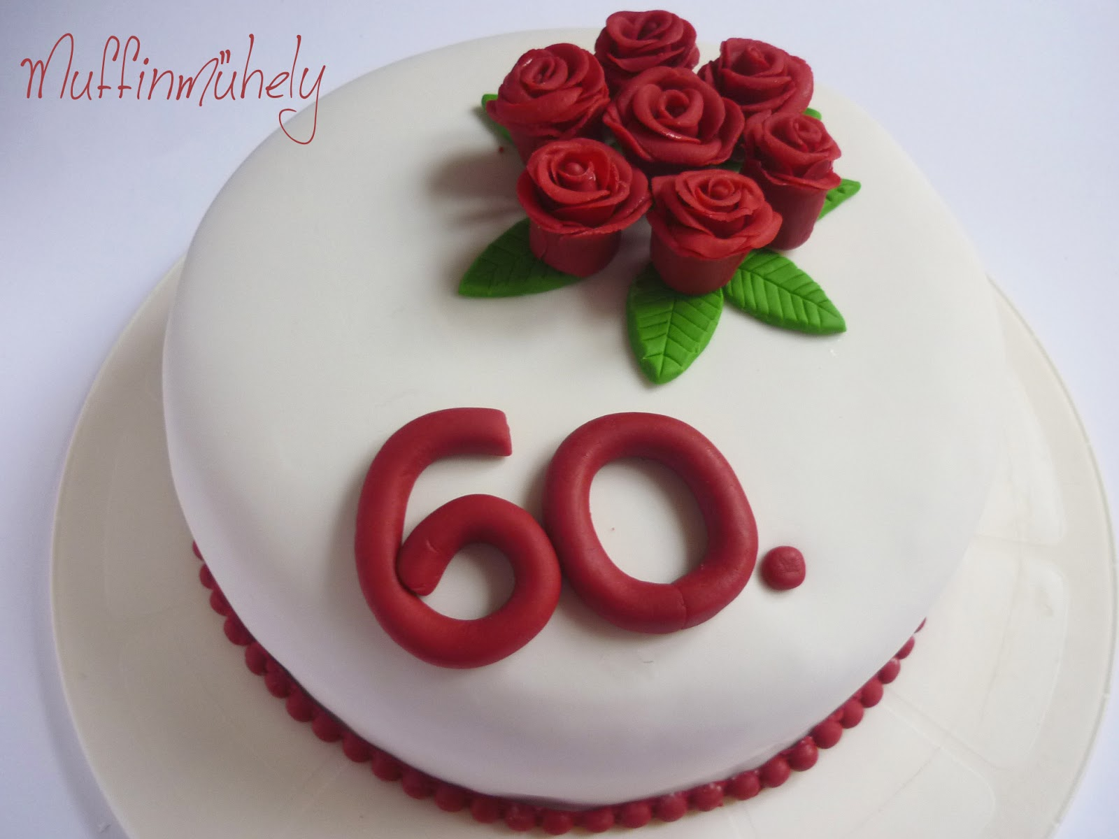 születésnapi torta 60 Rózsás torta 60. szülinapra születésnapi torta 60