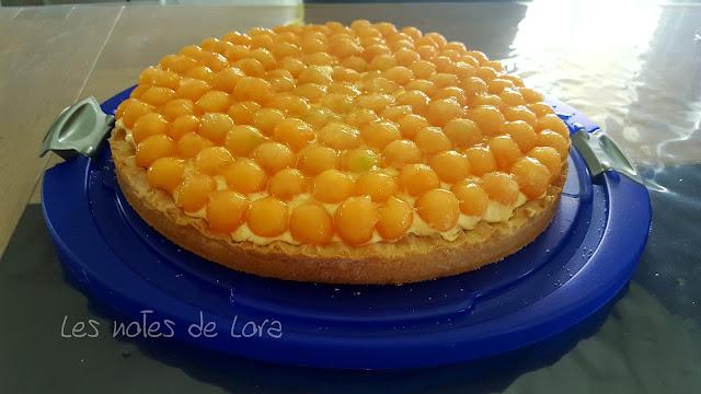 http://lesnotesdelora.blogspot.com/2017/06/recette-tarte-mousse-melon-pate-a-sucre.html