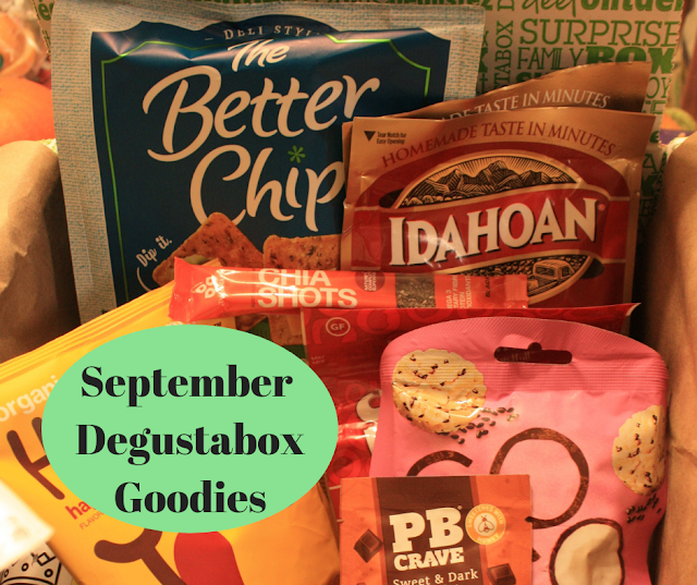 September Degustabox goodies perfect for the lunchbox!