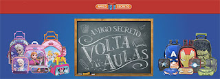 Participar promoção Amigo Secreto Volta às Aulas