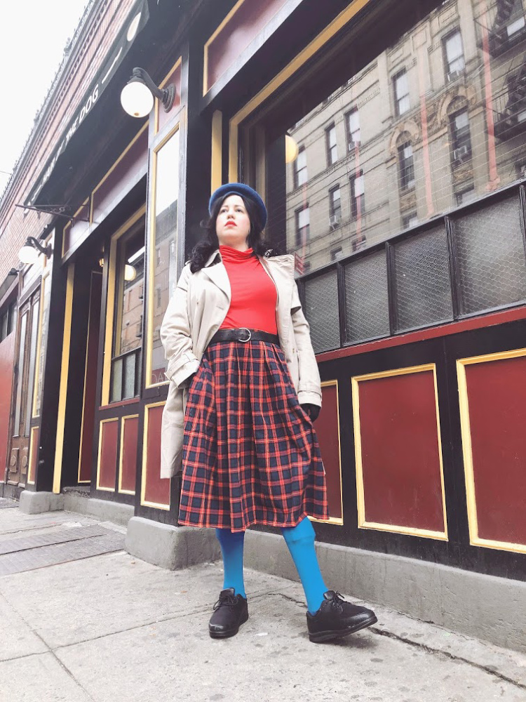 A Vintage Nerd, Vintage Blog, Retro Inspired Fashion Blog, Fashion Recreates, One Femme Set One Femme, Anna Karina Fashion, Retro Lifestyle Blog, Modcloth Plaid Skirt