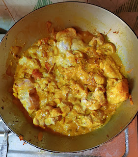 Chicken curry cooking