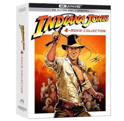 Indiana Jones, Raiders of the lost arc, temple of doom, 40 years of Indiana Jones, Indiana Jones 4K DVD