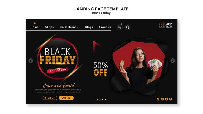 Black Friday Concept Landing Page Template