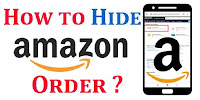 How to hide orders on Amazon app?