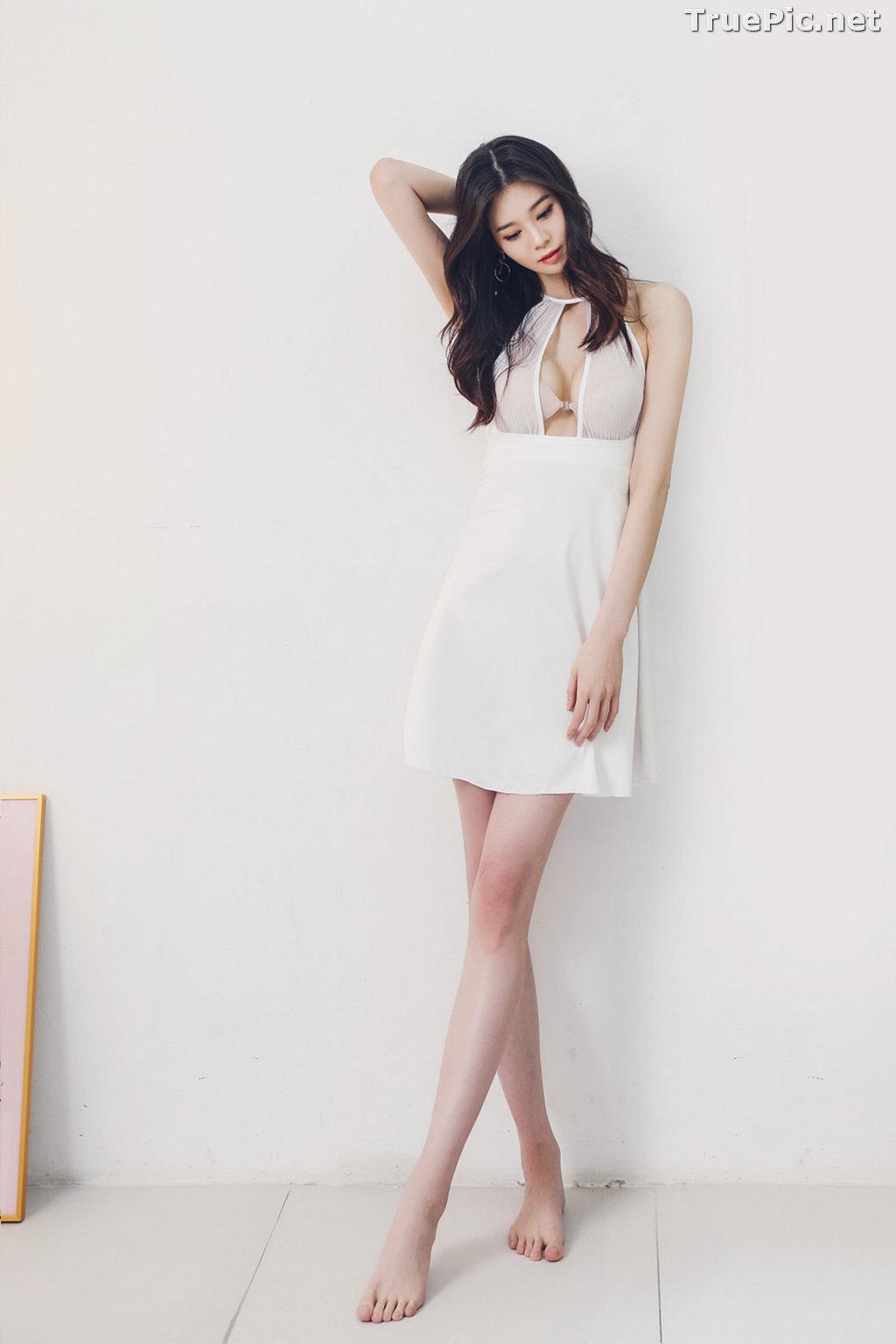 Image Korean Fashion Model - Carmen - White Sleepwear and Lingerie - TruePic.net - Picture-7